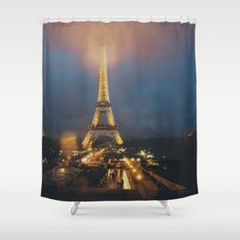 all lit up ... Shower Curtain