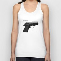 bond Tank Tops featuring Bond PPK by AngoldArts