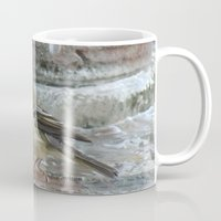 wallet Mugs featuring Ruby-Crowned Kinglet At The Fountain by Ralph S. Carlson
