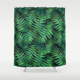 Among the Fern in the Forest Shower Curtain