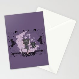 Black Cat Tsuki Stationery Cards