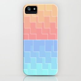 Red Blue Deco Diagonal Tile Gradient iPhone Case