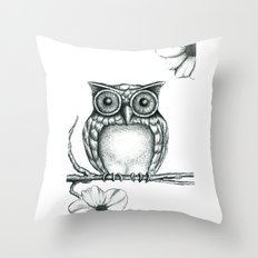 Fictional Owl Throw Pillow