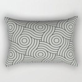 Circle Swirl Pattern Benjamin Moore's color of the year 2019 Metropolitan Gray AF-690 Rectangular Pillow