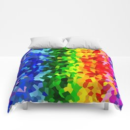 Rainbow Moon Love Comforters