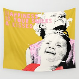 Smiles & kisses Wall Tapestry