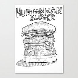 Hummman burger, conspiracy theory, BW Canvas Print
