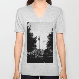 Berlin's streets in black and white 3 Unisex V-Neck