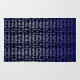 Binary Blue Rug