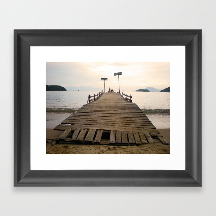 Waiting in Paradise Framed Art Print