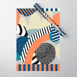 orange-blue Wrapping Paper