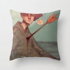 Too Much Worry Throw Pillow