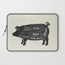 PORK BUTCHER DIAGRAM (pig) Laptop Sleeve