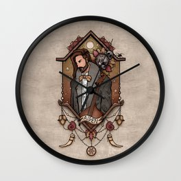 A moment of contemplation Wall Clock