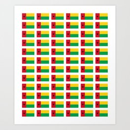 Flag of guinea bissau -Guinean,Guinea,Bissau,Bissau-Guineense,guiné,Guineense Art Print
