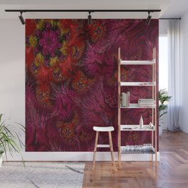 Feathered Pink Wall Mural