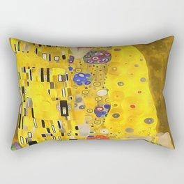 The Lovers Kiss After Klimt Rectangular Pillow