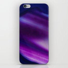 Purple Blue Cool Tone Geode Rock Stone Crystal Fine Art Print iPhone Skin