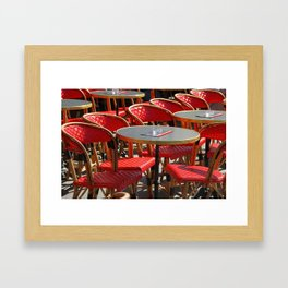 Red Café Scene in Paris Framed Art Print