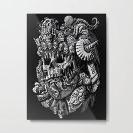 Mictlantecuhtli Metal Print