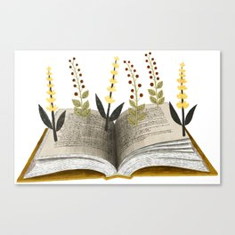 floral reading ii Canvas Print