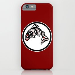 Northwest Pacific coast Haida art Salmon iPhone Case