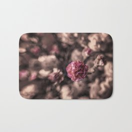 Sweetness mini carnations in pink antiqued look Bath Mat