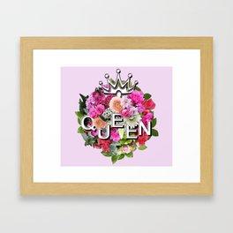Queen Floral Bouquet Framed Art Print