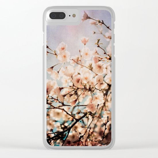 Spring Romance Clear iPhone Case