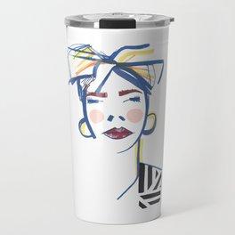 Abstract portrait Travel Mug