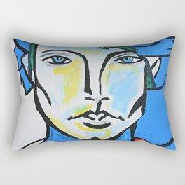 Jared Padalecki - Picasso Cubist Portrait Rectangular Pillow