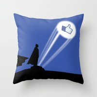 gotham Throw Pillows featuring Gotham Like by Tony Vazquez