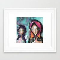 angels Framed Art Prints featuring angels by SannArt