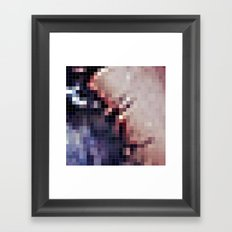Pixels Purple & Pink Framed Art Print