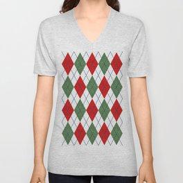 Christmas Argyle Unisex V-Neck