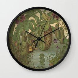 Antique Carnivorous Plants Lithograph Wall Clock