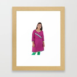 Long Pink Kurtis Framed Art Print
