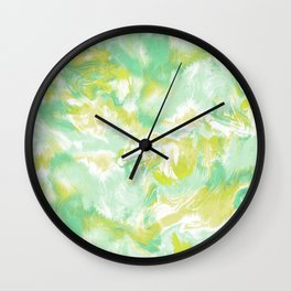 Marble Mist Green Lime Wall Clock