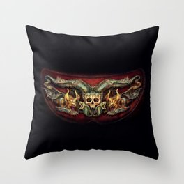 Skull And Beasts 4 Throw Pillow