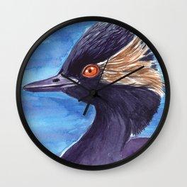 Grebe bird Wall Clock