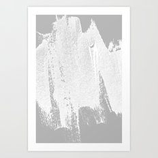 CONFIDENT - brush, white, gray background Art Print