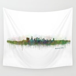 Beverly Hills City in LA City Skyline HQ v3 Wall Tapestry