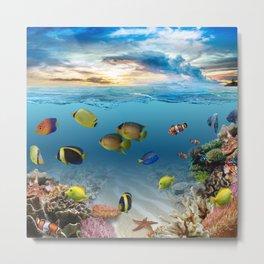 Underwater Ocean Tropical Coral Reef Metal Print