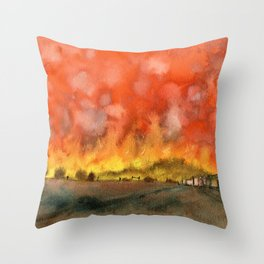 Victorian Bushfires Throw Pillow