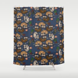 Book Cats Shower Curtain