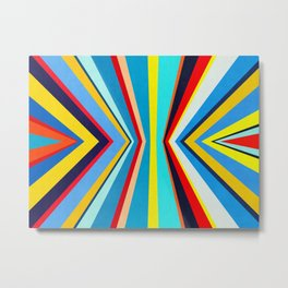 Geometric and colorful Metal Print