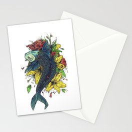 fish watercolor Stationery Cards