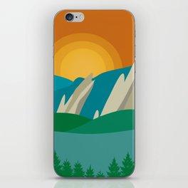 Boulder, Colorado - Skyline Illustration by Loose Petals iPhone Skin