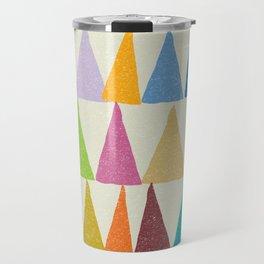 Analogous Shapes In Bloom. Travel Mug