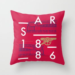 Emirates - Arsenal - Typoline Stadiums Throw Pillow